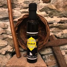 Huile d olives saveur citron